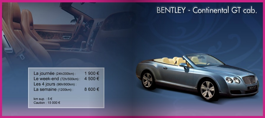 location bentley Paris